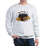 Autumn Flat Coated Retriever Puppies Sweatshirt