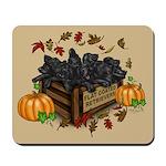 Autumn Flat Coated Retriever Puppies Mousepad