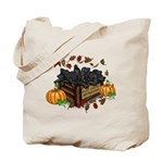 Autumn Flat Coated Retriever Puppies Tote Bag