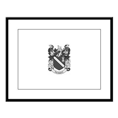 PLUNKETT Coat of Arms Large Framed Print