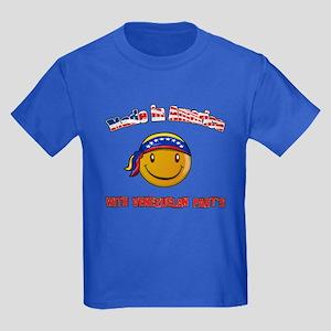 Made in America with Venezuel Kids Dark T-Shirt