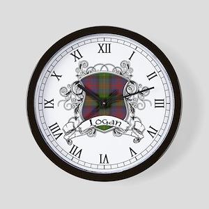 Logan Tartan Shield Wall Clock