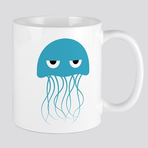 Angry Blue Jellyfish Mugs