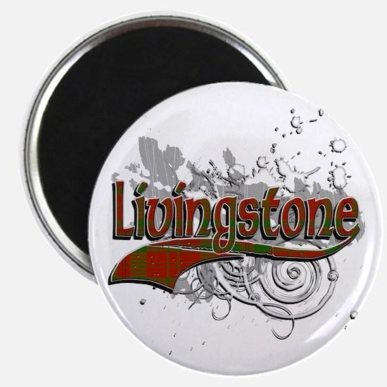 Livingstone Tartan Grunge Magnet