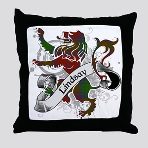 Lindsay Tartan Lion Throw Pillow