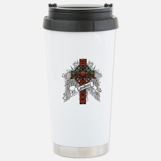 Lindsay Tartan Cross Stainless Steel Travel Mug