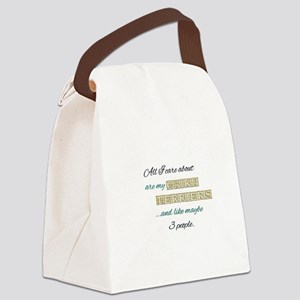 Cairn Terrier Care Canvas Lunch Bag