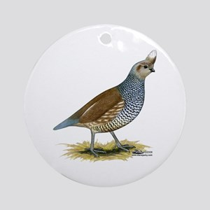 Texas Scaled Quail Ornament (round)
