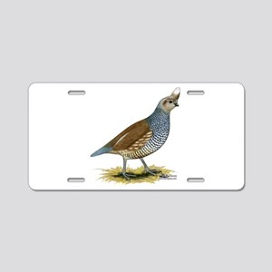 Texas Scaled Quail Aluminum License Plate