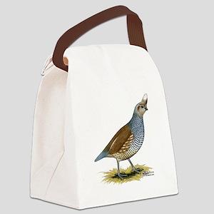 Texas Scaled Quail Canvas Lunch Bag