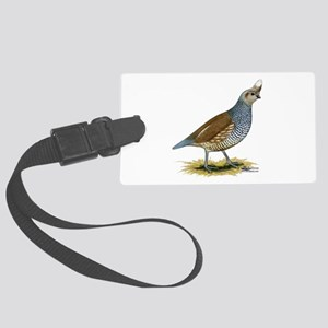 Texas Scaled Quail Large Luggage Tag