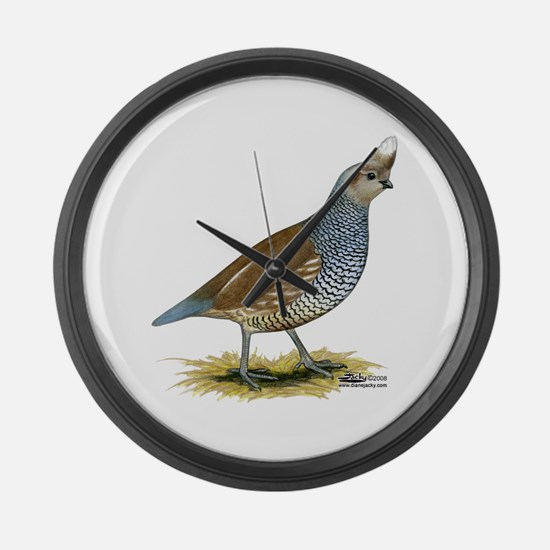 Texas Scaled Quail Large Wall Clock
