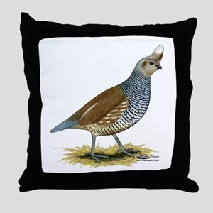 Texas Scaled Quail Throw Pillow
