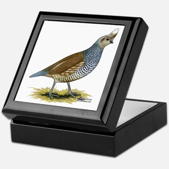 Texas Scaled Quail Keepsake Box