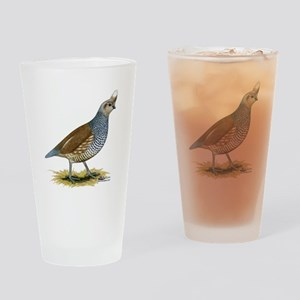 Texas Scaled Quail Drinking Glass