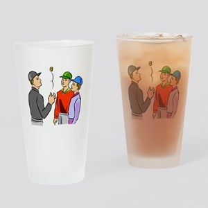 Baseball Umpire Coin Flip Drinking Glass