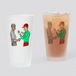 Baseball Umpire And Manager Drinking Glass