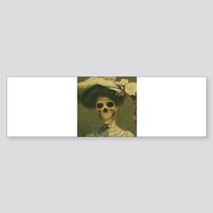 Gothic Skeleton Lady Bumper Sticker