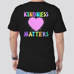 KINDNESS MATTERS (2-si Men's Fitted T-Shirt (dark)