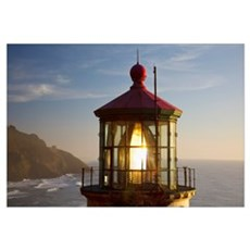 Heceta Head Lighthouse Along The Oregon Coast; Ore Framed Print
