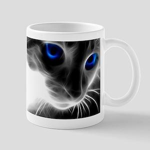blue cats eyes Mugs