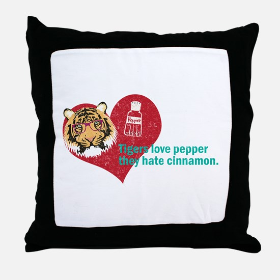 thr hanover tigers love pepper Throw Pillow