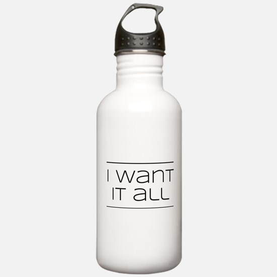 In life you can music Water Bottle
