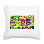 Summer Square Canvas Pillow