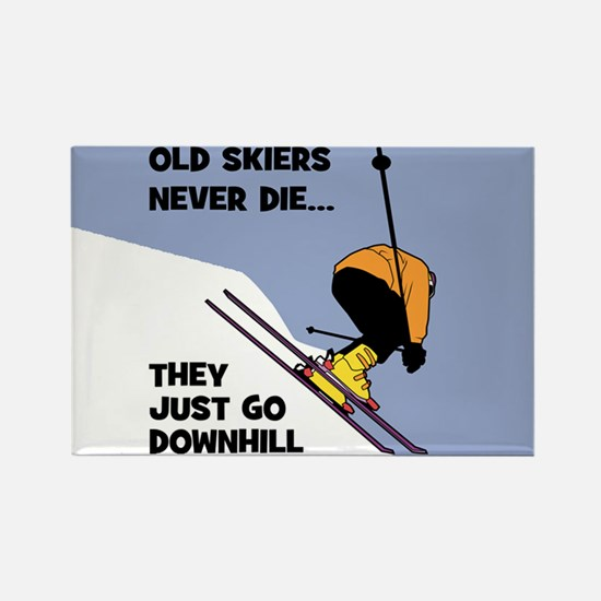 Old Skiers Never Die Magnets