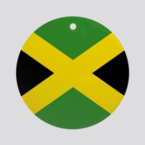 Jamaican Flag Ornament (Round)