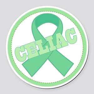 Celiac Disease Ribbon Round Car Magnet