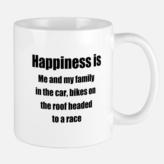 Happiness - headed to a race Mugs