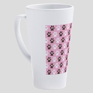 Paw Print Pattern 17 oz Latte Mug