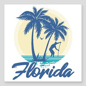 "Florida Square Car Magnet 3"" x 3"""