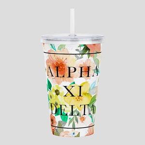 Alpha Xi Delta Floral Acrylic Double-wall Tumbler