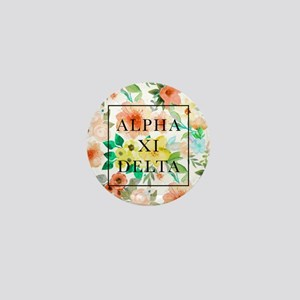 Alpha Xi Delta Floral Mini Button