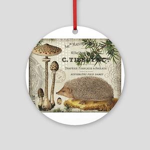 modern vintage woodland hedgehog Ornament (Round)