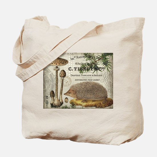 modern vintage woodland hedgehog Tote Bag