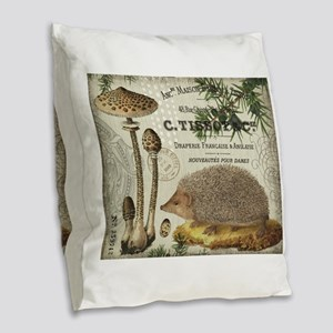 modern vintage woodland hedgehog Burlap Throw Pill