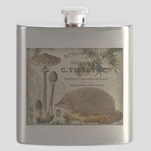 modern vintage woodland hedgehog Flask
