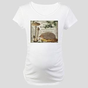 modern vintage woodland hedgehog Maternity T-Shirt