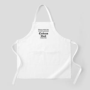 Cuban dad looks like BBQ Apron