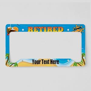 Retire On The Beach License Plate Holder