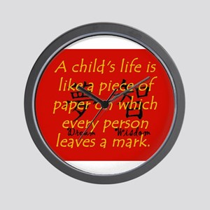 A Childs Life Is Like a Piece of Paper On Which E