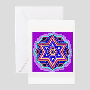 Jewish Star of David. Greeting Cards