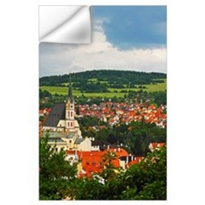 Church Spire In The Old Town; Cesky Krumlov, Jihoc Wall Decal