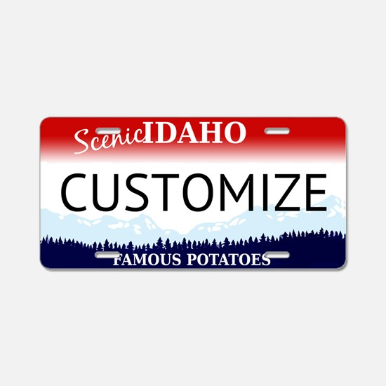 Idaho Custom Aluminum License Plate