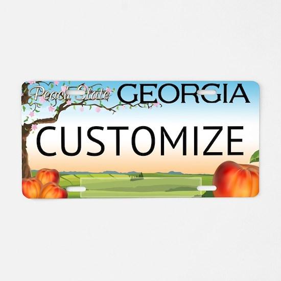 Georgia Custom Aluminum License Plate