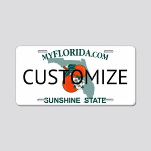Florida Custom Aluminum License Plate