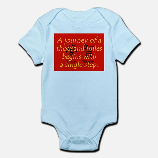 A Journey of a Thousand Miles Baby Light Bodysuit